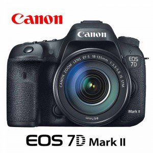 Câmera Canon EOS 7D Mark II DSLR 20.2MP com Lente 18-135mm
