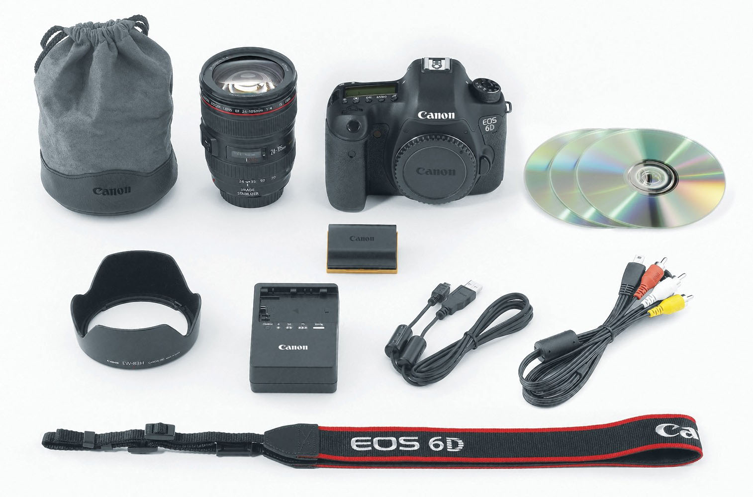 Itens Canon EOS 6D
